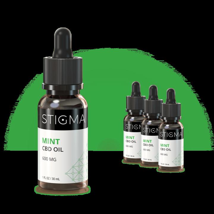 Mint CBD Oil (600MG) 4 Pack